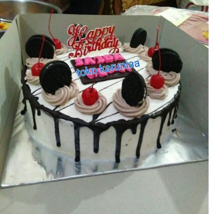 Jual Kue Ulang Tahun Kue Tart Dengan Toping Oreo Dan Cery Jakarta Utara Toko Karuniaa Tokopedia