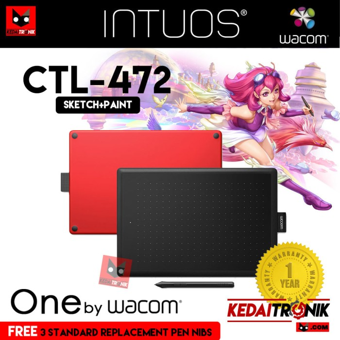 harga New!! one by wacom ctl-472 small pen tablet one art comic intuos mouse Tokopedia.com