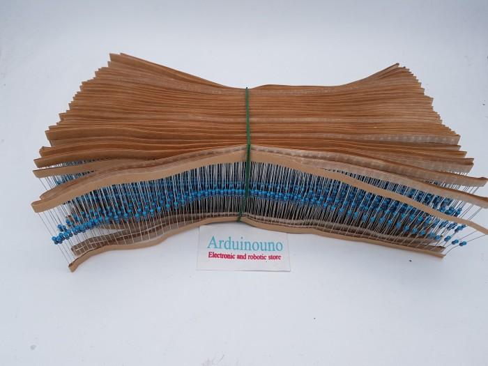 Foto Produk 10pcs Resistor 2.2K 2K2 2200 Ohm 1/4 watt 0.25 metal film DIP tole 1% dari arduinouno