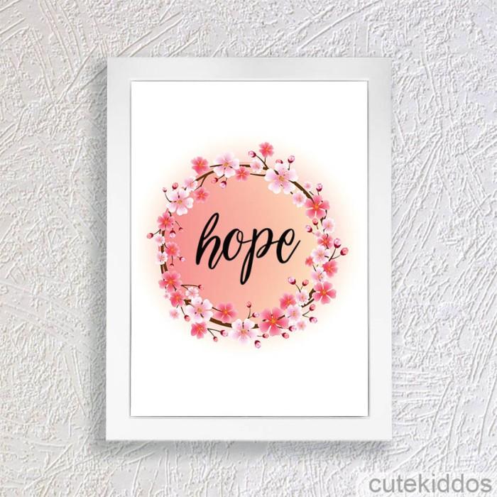 harga Poster shabby chic / hope / pigura hiasan dinding / dekorasi ruangan Tokopedia.com
