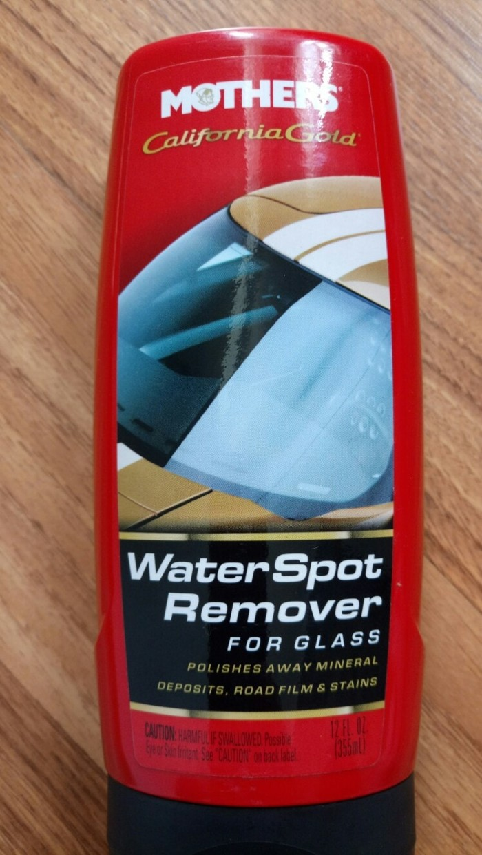 Mothers california gold water spot remover for glass