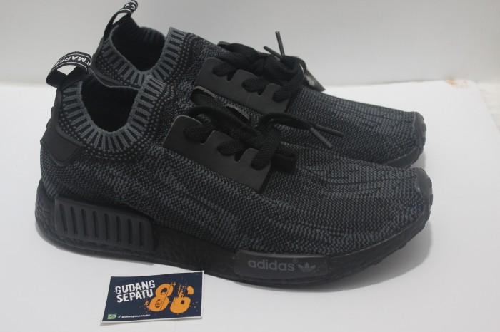 buy online 51519 984a3 Sepatu Adidas Nmd R1 Primeknit Pitch Black - Premmium Quality