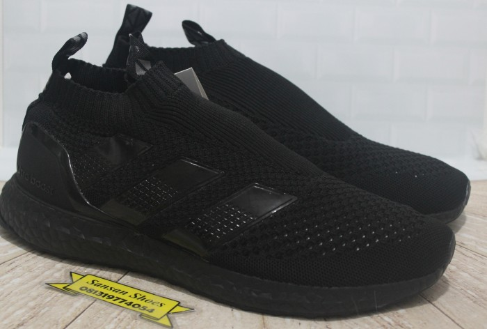 cheap for discount 89447 9985e Sepatu Adidas Ace 16 Pure Control Ultraboost Triple Black