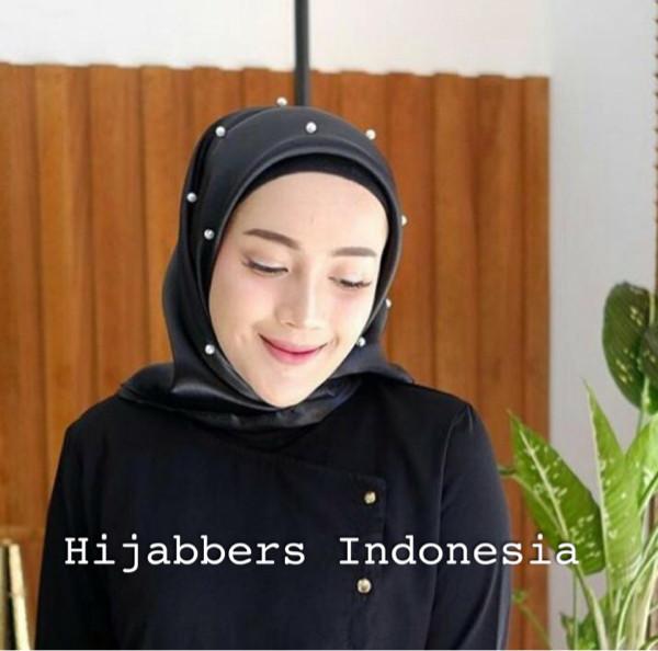 Hijab jilbab organza mutiara premium silk original