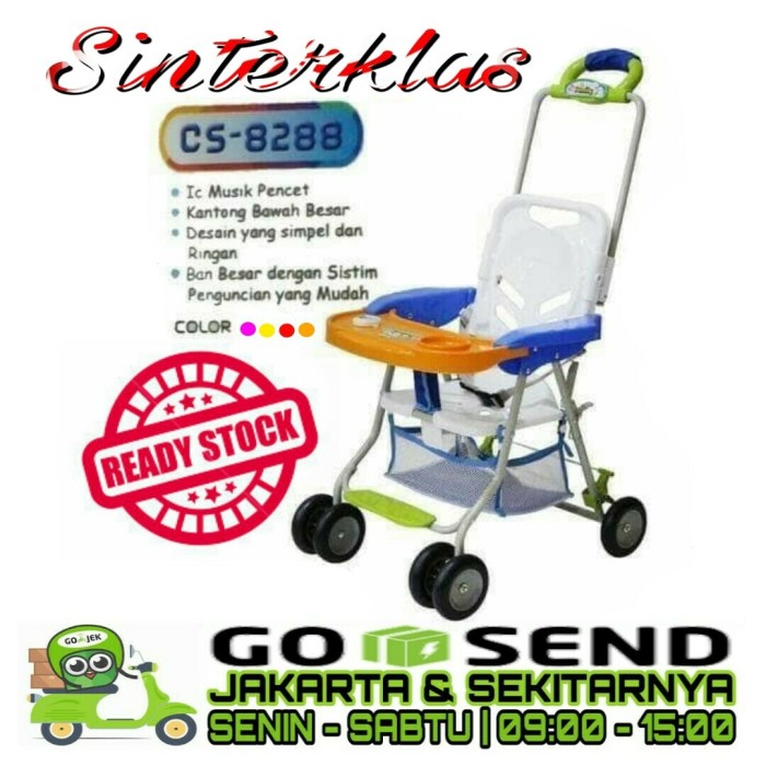 Family Meja Makan Baby Chair Stroller CS8288 8288 Musik Khusus Gojek - KUNING
