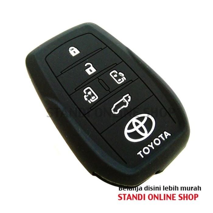 Kondom Kunci Silikon Remote Keyshirt Toyota All New Alphard Bagus