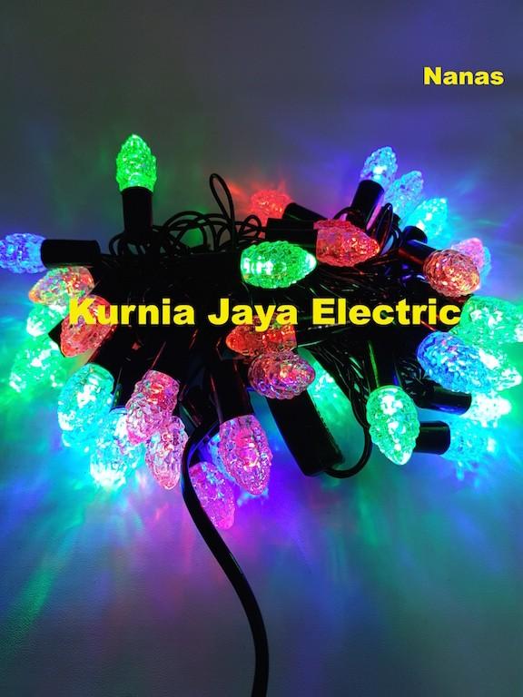 harga Lampu pohon natal led hias model nanas warna warni 50led Tokopedia.com