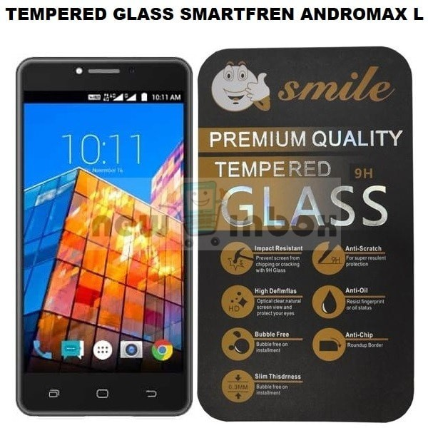 TEMPERED GLASS / ANTI GORES KACA FOR SMARTFREN ANDROMAX L - CLEAR .