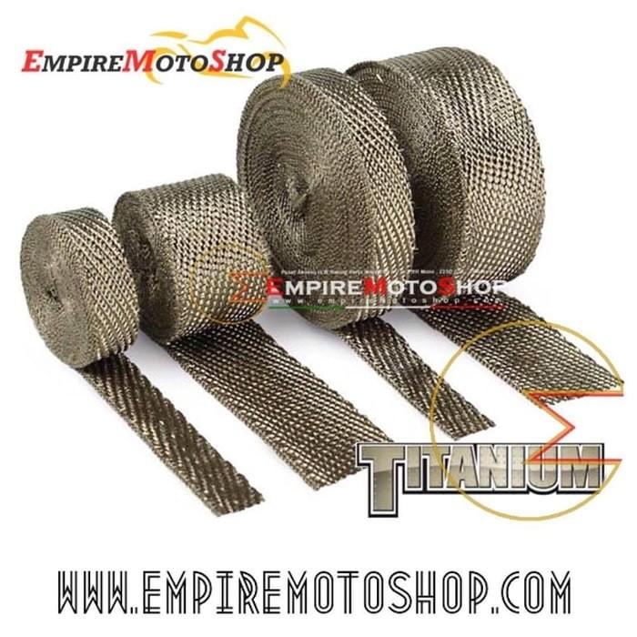 harga Dei exhaust wrap titanium 1  untuk header knalpot (original) 15 meter Tokopedia.com