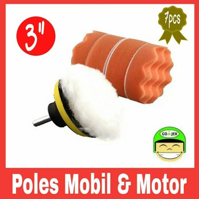 harga Aksesoris poles mobil motor busa spons woll pad velcro baut adaptor Tokopedia.com
