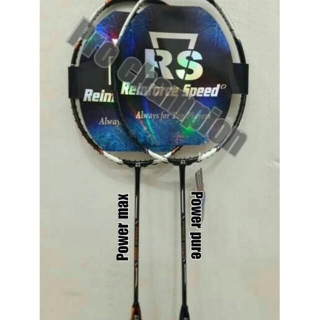 harga Raket badminton - rs power max - pure - original Tokopedia.com