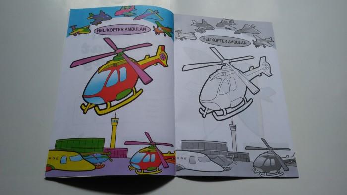 Jual Buku Mewarnai Pesawat Terbang Faridas Shop Tokopedia