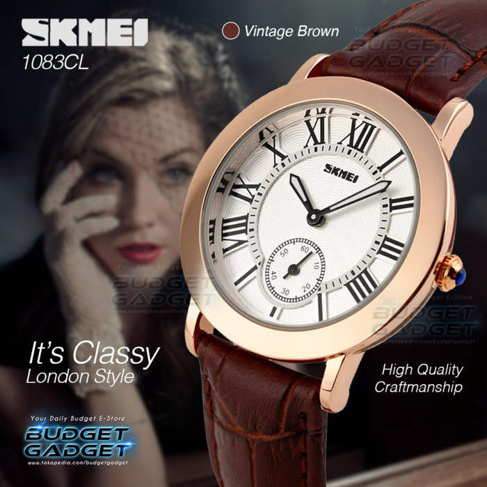Jam Tangan Wanita SKMEI Fashion Casual Leather Strap - Diskon