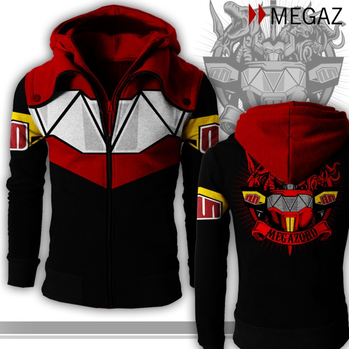 harga Hoodie Double Zipper Power Rangers - Megazord Tokopedia.com