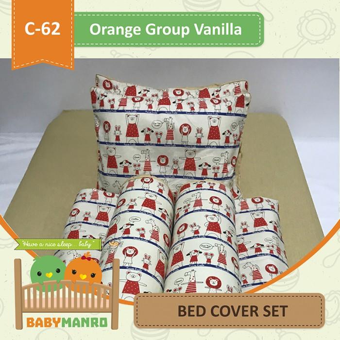 harga Bed cover set c-62 orange group vanilla Tokopedia.com