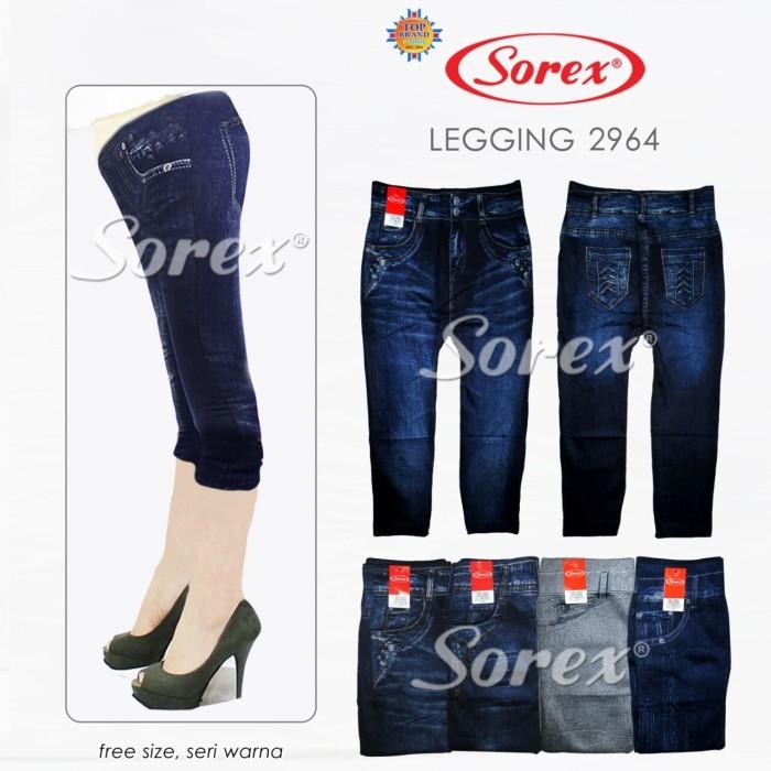 Jual Diskon Celana Legging 2964 Wanita 3 4 Stretch Motif Jeans Sorex Kota Surabaya Aphrodite Sport Tokopedia