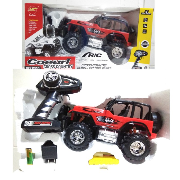 Cross Country 4x4 >> Jual Toy R C Rc Mobil 4x4 Jeep Cross Country Besar Kota Tangerang Toylocker Tokopedia