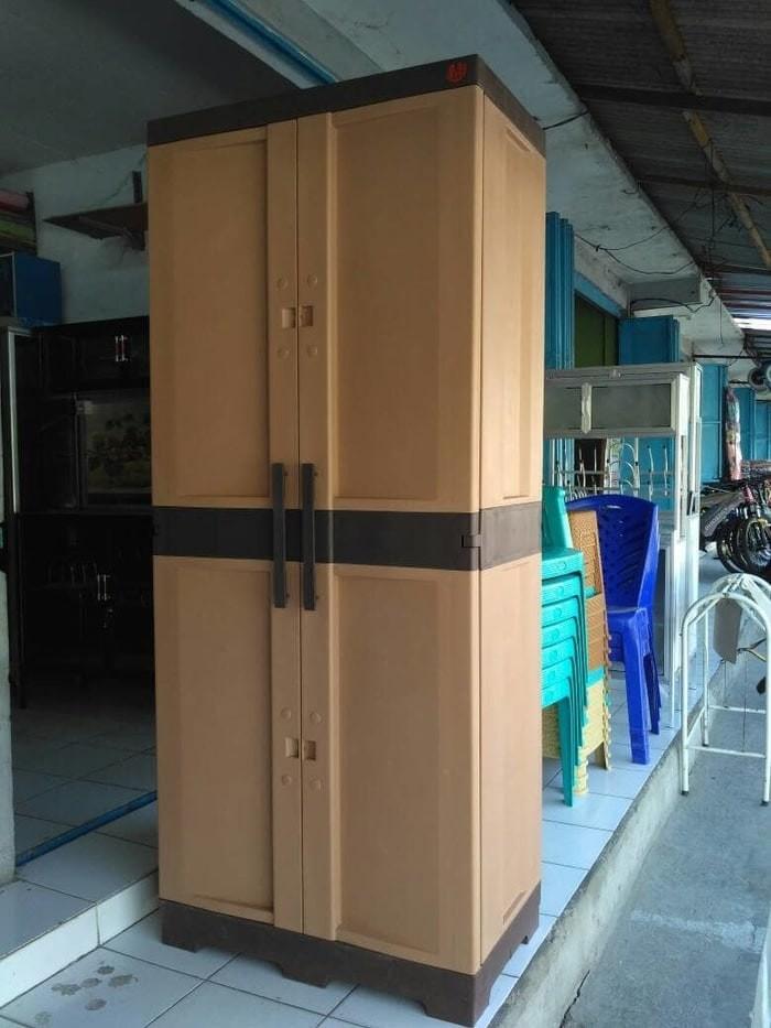 harga Lemari plastik / laci / lemari gantung/ rak serbaguna portable pintu 2 Tokopedia.com
