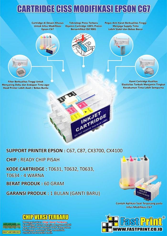 Jual (Diskon) Fast Print Cartridge CISS Epson CX4100 1 Set ... 4cf6de4141