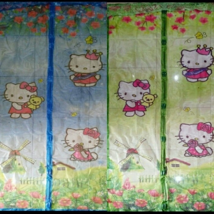 ... Curtains BEST Lazada co id Source MOTIF DISNEY HELLO KITTY Tirai Pintu Magnet Pinguin Anti