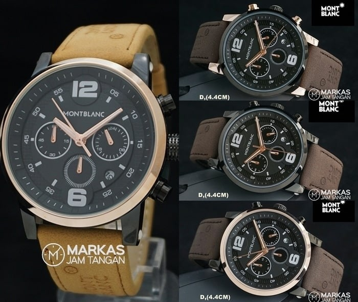 Jam Tangan Pria Montblanc Timewalker Sport Chronograph Leather