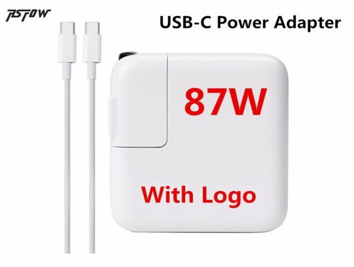 Genuine OEM APPLE A1719 87W USB-C Power Adapter Charger For Macbook Pro 2016-17
