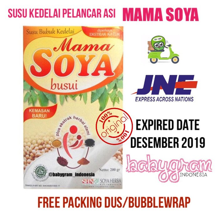 Mama Soya Mamasoya Busui ASI Booster Free Kantong ASI Gabag 100 ml
