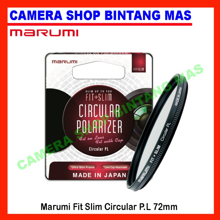 harga Marumi fit slim circular polarizer ( cpl ) 72mm Tokopedia.com