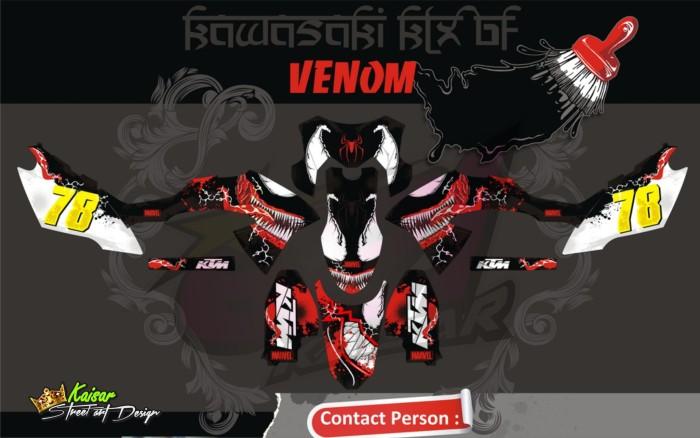 harga Sticker aksesoris motor klx 150 bf qlty.a venom Tokopedia.com
