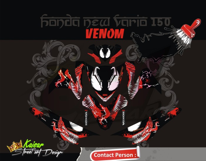 harga Sticker motor aksesoris body motor vario 150 -125 esp venom Tokopedia.com
