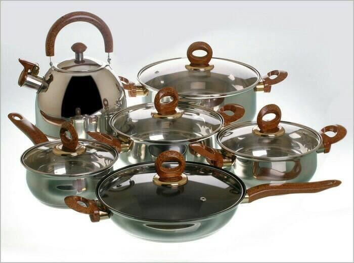 Vicenza panci set cookware 12pc v812 / alat masak vicenza stainles 12p