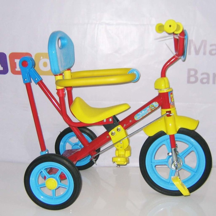 harga Pmb 921 safari bmx tricycle with safety bar and rod steering red Tokopedia.com