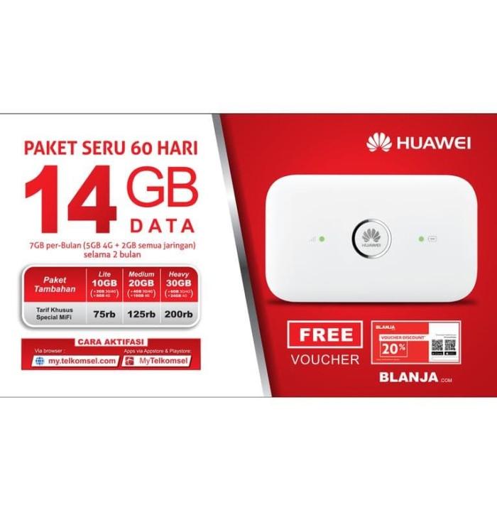 harga Mifi router modem wifi 4g huawei e5573 telkomsel unlocked free 14gb Tokopedia.com