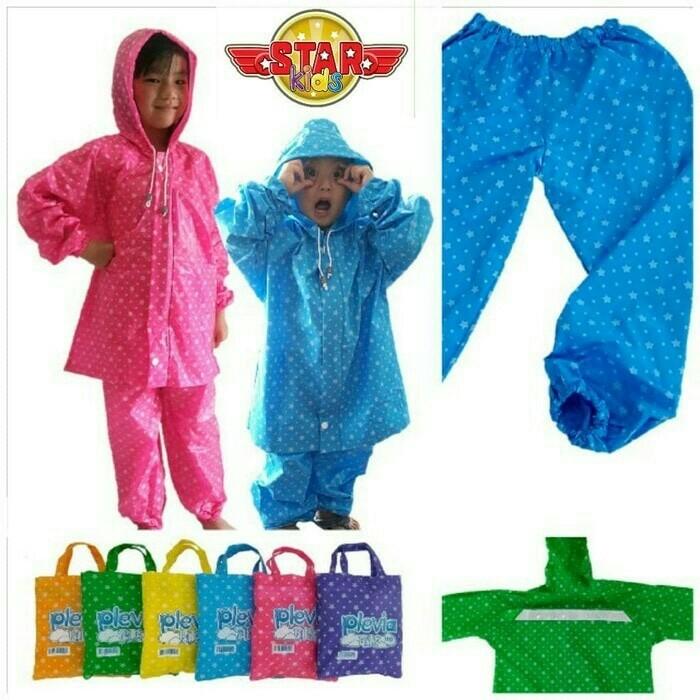 Jas hujan anak plevia jaket celana kids 110