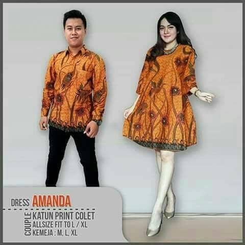 Jual Couple Batik Sarimbit Couple Batik Solo Couple Batik Terbaru. Baju  Dress ... 64b371b93b