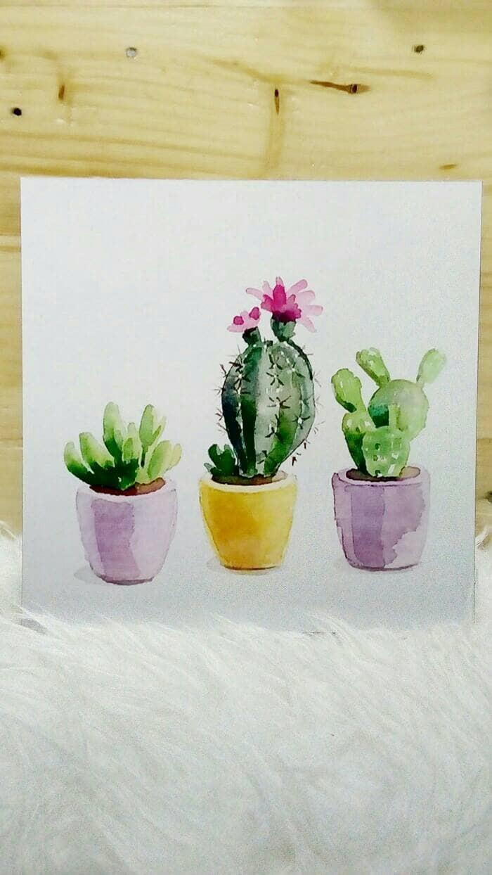 harga Hiasan dinding lukisan stiker vinyl doff kaktus pot colorful Tokopedia.com