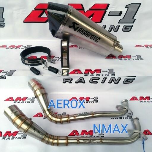 Foto Produk Knalpot Racing Akrapovic Short Yamaha NMAX Abs AEROX R 155 Full System dari AM1 Racing