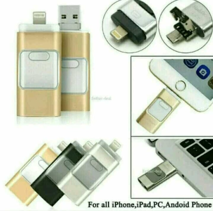 harga Flashdrive flashdisk otg iphone 3in1 64gb for all iphone & android Tokopedia.com