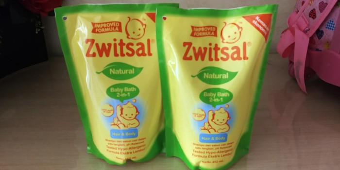 harga Zwitsal baby natural 2in1 hair and body refill 450ml 450 ml sabun bayi Tokopedia.com