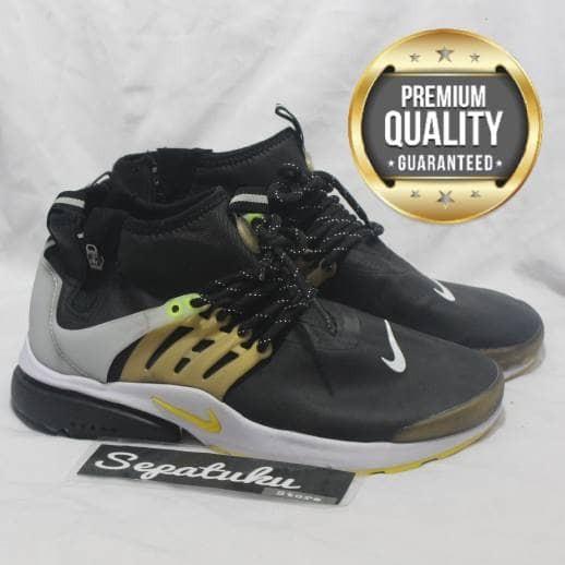 best service b1ffa 55311 Sepatu Nike Air Presto Mid Utility Black Metalic Gold -Premium Quality