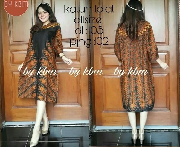 harga Tunik /tunic batik sogan. dress / blus / hijab / gamis baju batik so Tokopedia.com