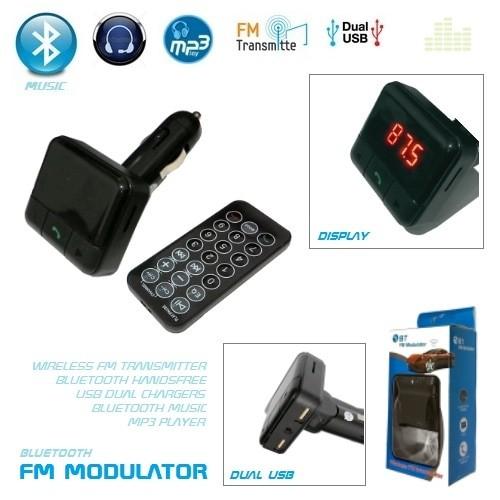 harga Bluetooth handfree dual car charger fm transmitter music player v1 Tokopedia.com