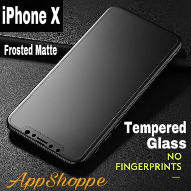 Foto Produk TEMPERED GLASS SCREEN PROTECTOR PREMIUM FROSTED MATTE APPLE iPhone X dari AppShoppe