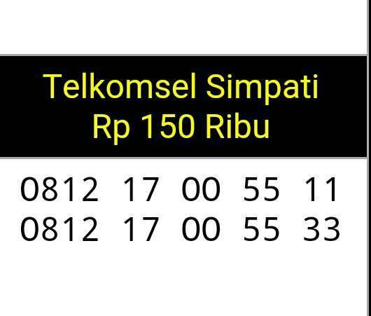 Telkomsel Simpati Nomor Cantik 0812 1 3456 11 Daftar Harga Terkini Source · Nomor cantik Simpati