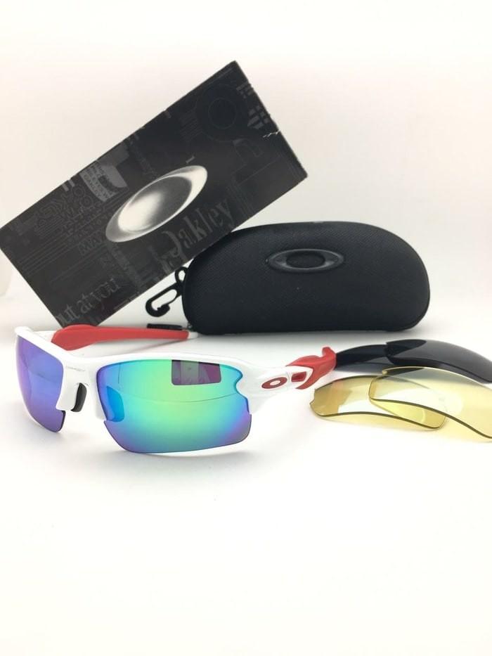 Kacamata Oakley Flak 3 Lensa Sunglass Outdoor Sepeda Gaya c3b9259ba9