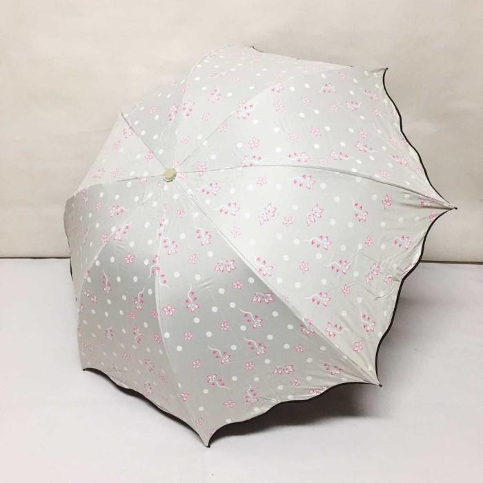 Payung lipat 3 fancy bunga polkadot - 8242