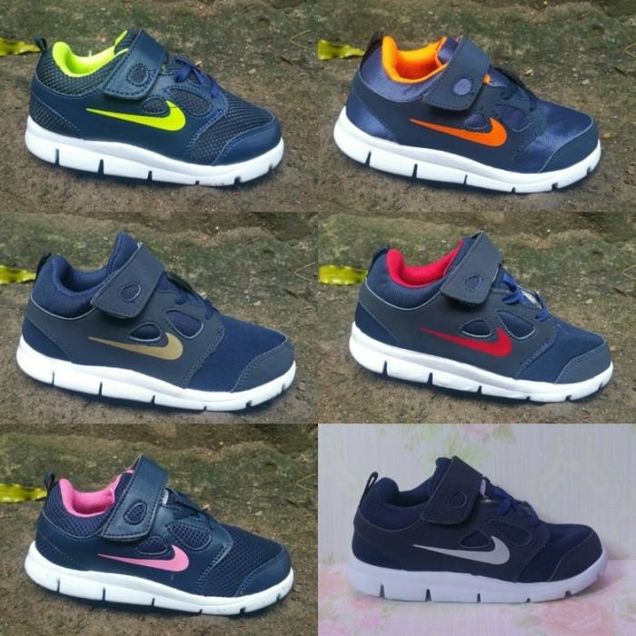 harga Nike free running size 25 - 35 sepatu anak olahraga sports navy lari Tokopedia.com