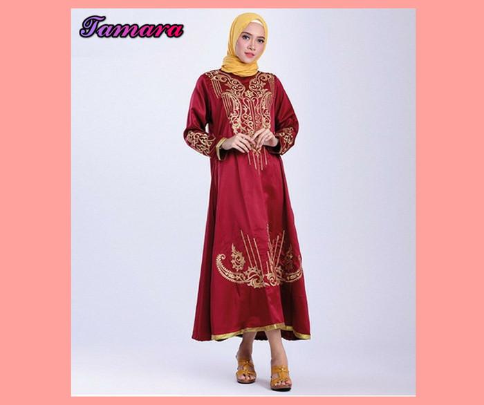 Jual Baju Gamis Muslimah Modern Merah Gamis Syari Tmg 2 Terbaru