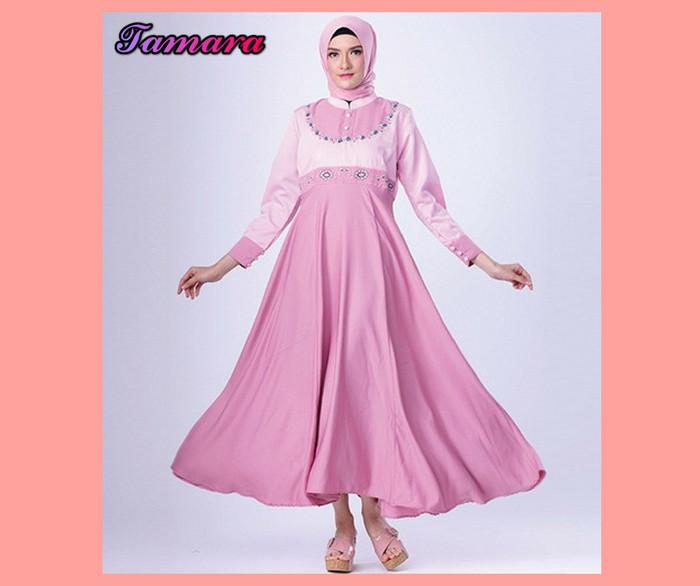 Jual Baju Gamis Muslimah Modern Pink Gamis Syari Tmg 37 Terbaru