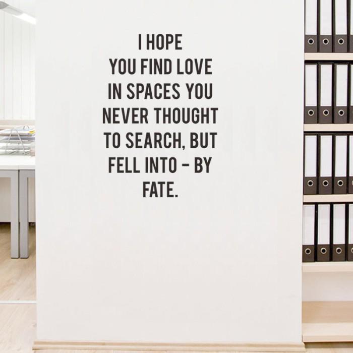 Wall Stiker Dinding Kaca Quotes Find Love Kamar Rumah Sticker